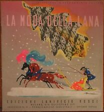 1937 LA MODA DELLA LANA Vicenza Lanificio Rossi maglia ferri bambini neonati