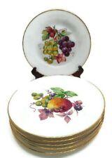 Josef Kuba Porzellan Salad Plates Ftuit Orchard Bavaria Germany Gold Porcelain