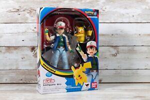 Pokemon Bandai SH Figuarts Ash Ketchum 20th Anniversary Pikachu Pokeball