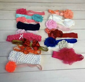 Huge bundle of 18 baby girl hair bows, every color and holiday