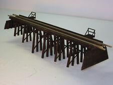"HO scale Model Railway Wood trestle Bridge 12"" long 2"" high"