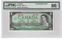 Canada $1 Dollar Banknote 1967 BC-45a PMG GEM UNC 66 EPQ Commemorative
