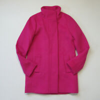 NWT J.Crew Factory Cocoon City Coat in Fuchsia Blossom Pink Wool Jacket 00