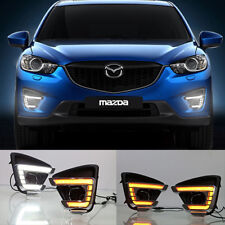 Exact Fit Mazda CX-5 2015-2017 Switchback LED DRL Lights Fog Lamp w/Turn Signal