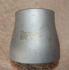 """4"""" x 3"""" Concentric Reducer Sch10 304 Stainless Butt weld """"New other"""" Ts1"""