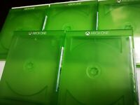 5 x XBOX ONE Official Empty Replacement Blank Game Cases * NEW
