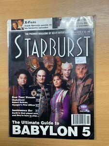 1996 STARBURST MAGAZINE #215 BABYLON 5 ULTIMATE GUIDE / STAR TREK VOYAGER (LL)