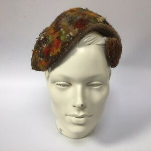 True Vintage 1940s Feathered Casque Hat By Miss Symonds New Bond Street London