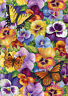 Toland Pansy And Butterfly 12.5 x 18 Butterfly Spring Colorful  Garden Flag