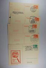B2 DDR Ganzsachen 5 Stück Sonderstempel, teilweise mit Zudruck