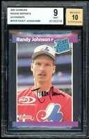 Randy Johnson /89 2001 Donruss Rookie Reprints Autograph #RR28 BGS 9 auto 10