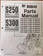 Bobcat S250 S300 Turbo Skid Steer Parts Catalog Manual - Part Number # 6902050