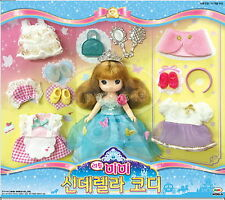 Little MIMI Cinderella fashion stylist Set Role Play Korean barbie doll Girl toy