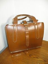 Vintage Master Products 5 Slot Catalog Case Top Grain Saddle Leather USA