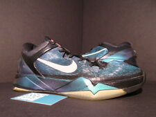 Nike Zoom KOBE VII 7 INVISIBILITY CLOAK BLACK PURPLE TURQUOISE BLUE GREEN 11