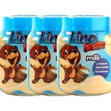 (EUR 8,29/kg)  3x 400g Lino Lada Milk weißer Brotaufstrich Milchcreme 3x 400g