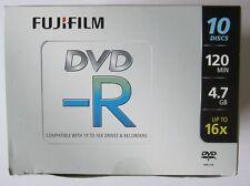 Fuji Film DVD-R 4.7 GB (16x) 120 min gioiello CASI SCATOLA DI 10 Dischi