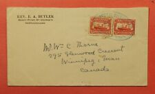 Dr Who 1931 Newfoundland Canada Sandy Point Cancel C219250