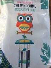 DIY OWL Wind Chime Outdoor Garden Decoration Family Aluminum Ornament CREATIVE
