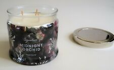 PartyLite Signature Candle - Midnight Orchid - Triple Wick Large Jar 375g / 13oz