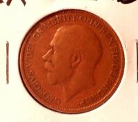 CIRCULATED 1913 I PENNY UK COIN (100715))