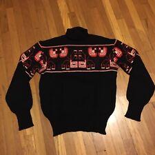 1950S Vintage Indian Pattern Wool Turtleneck Sweater Size M