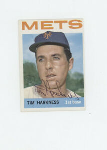 Tim Harkness New York Mets signed 1964 Topps card  57 AW Authentic