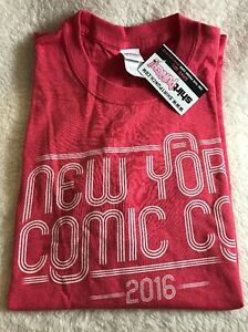 NYCC Nerd Block Red New York Comic Con 2016 Exclusive T-Shirt Large New!