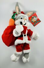 2000 Nwt Bugs Bunny Plush Santa Claus with Carrots!
