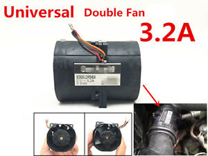1Pcs Car Auto Electric Turbine Turbo Double Fan Super Charger Boost Intake 3.2A