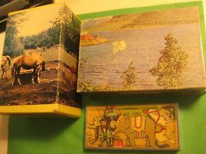 "3-VINTAGE PUZZLES-7 PIECE WOOD ""SIMPLEX"" HOLLAND W/CASE-&-2-MINI & TUCO PUZZLES"