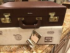 BRAND NEW IN BOX Brown Stebco Briefcase , Attaché, Tufide W/ Keys &  Lock