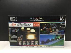 Mini Enbrighten Landscapes Path Lights 36  Lights 70 Feet LED Color Changing