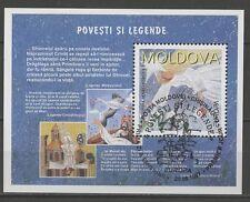 Decir u. leyendas-moldavia-bl.12 con sello used 1997