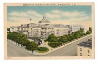 1944 Library of Congress & Annex Washington DC Linen Postcard