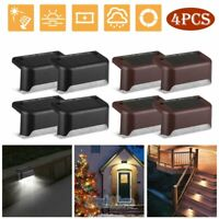 4x Solar LED Deck Lights Path Garden Patio Pathway Stairs Step Fence Decor Lamp