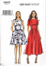 VOGUE SEWING PATTERN 9075 MISSES SZ 14-22 DRESS & JUMPSUIT WITH PRINCESS SEAMS