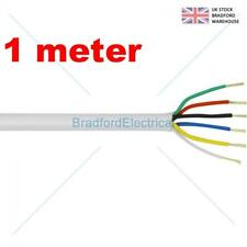 6 Core Alarm Cable 1m. meter White. Top Quality CQR British Made. Free UK