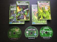 LOT 3 JEUX PLAYSTATION PS2 ARMY MEN GREEN ROGUE + SARGE'S HEROES 2 +SARGE'S WAR