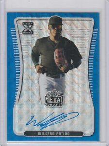 Wilderd Patino,2020,Leaf,MetalDraft( Autrographed Blue Wave XRC,Card#D) Fine