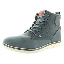 Tommy Hilfiger Mens Ferguson Gray Ankle Boots Shoes 8 Medium (D) BHFO 9204