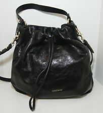 Cole Haan Black Leather Stagedoor Small Studio Bucket Bag Purse