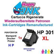 Cartuccia nera per HP 301 XL (CH563EE) Deskjet 1000 1050 1055 2050 3000 3050