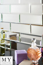 Silver Mirrored Mirror Bevelled Wall Tiles Suitable for Any Bathroom Kitchen 2