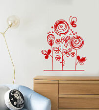 Vinyl Wall Decal Cartoon Flowers Flowerbed Garden Children's Room Sticker 1494ig