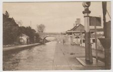 Somerset postcard - Langport Floods (Railway Station Tracks Under Water)