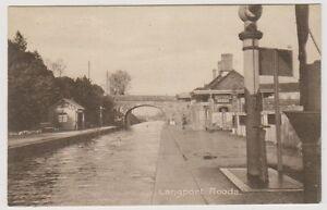 Somerset postcard - Langport Floods (Railway Station Tracks Under Water) (A103)