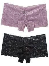 Crotchless Open-Crotch Panties Underwear Women Lace  Boyshort for US Plus Size