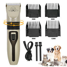 Pet Dog Clippers Electric Cordless Dog Cat Hair Trimmer Scissor Blade Grooming
