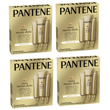(4) Packs Pantene Pro-V Intense Rescue Shots Ampoules Hair Treatment - 1.5 fl oz